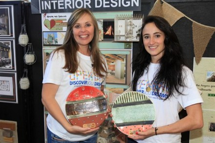 Creative Flair… Interior Design Lecturer, Lené Smit and Charista Killian pulled out all the stops to ensure that NMMU's Department of Architectural Technology and Interior Design scoops the prize for the Most Visually Appealing stall at the Open Day hosted at NMMU's George Campus.