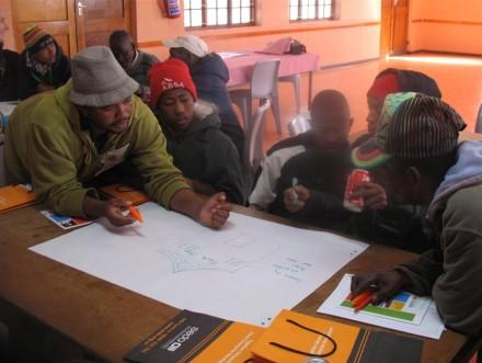 Participants at the entrepreneurship training in Touwsranten.