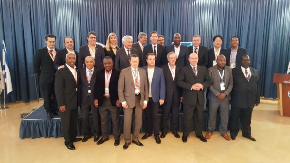 Ald. Naik is seen here with various Mayors from all over the world who attended the conference which spanned the major centres of Jerusalem, Tel-Aviv and Haifa