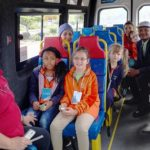 Children enjoy practical experience of public transport