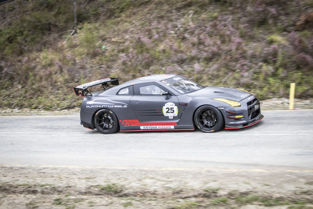 Jaco Nel in his Nissan GT-R