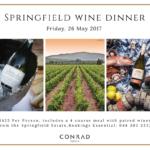 Conrad Pezula Gourmet Wine Dinner
