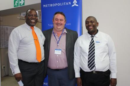 ET Zungu, Japie Mostert and Skhumbuzo Dladla (Branch Manager: Riversdale branch, Metropolitan)