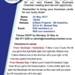 Business Chamber Networking Session Opportunity 23 May 2017