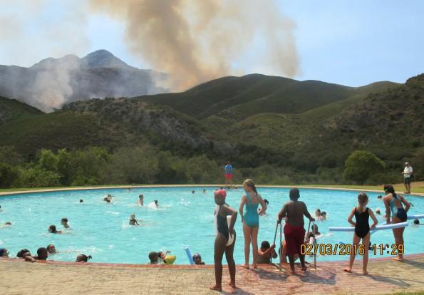 The swimming pool at De Hoek Mountain Resort