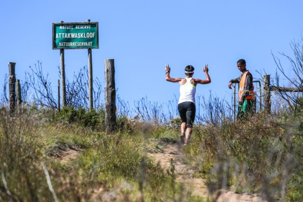 Summiting the Attakwaskloof neck is the first challenge of the Attakwas Trail