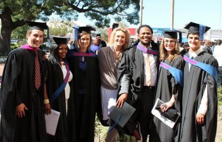MCom graduate and Marketing Lecturer, Adele Potgieter, captured just after her graduation at NMMU in Port Elizabeth.