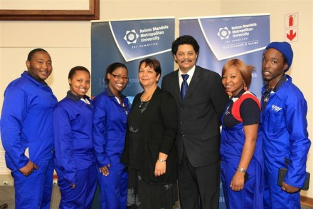 NMMU George Student Council members pictured with Campus Principal, Prof Quinton Johnson and Prof Denise Zinn, Executive Dean of the Faculty of Education.